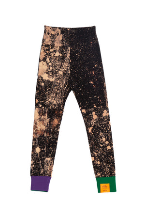 HAND-BLEACHED SOTO HIGH-WAIST LEGGINGS WITH CONTRAST RIB