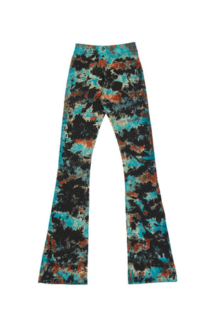 T.R.Y.B. FLAME TIE-DYE EXTRA LONG RIBBED PANT