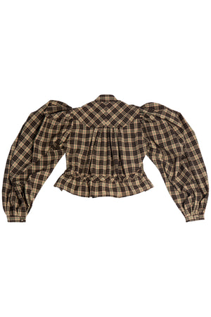 GATHERED PLAID TOP S.R. STUDIO. LA. CA. BY STERLING RUBY