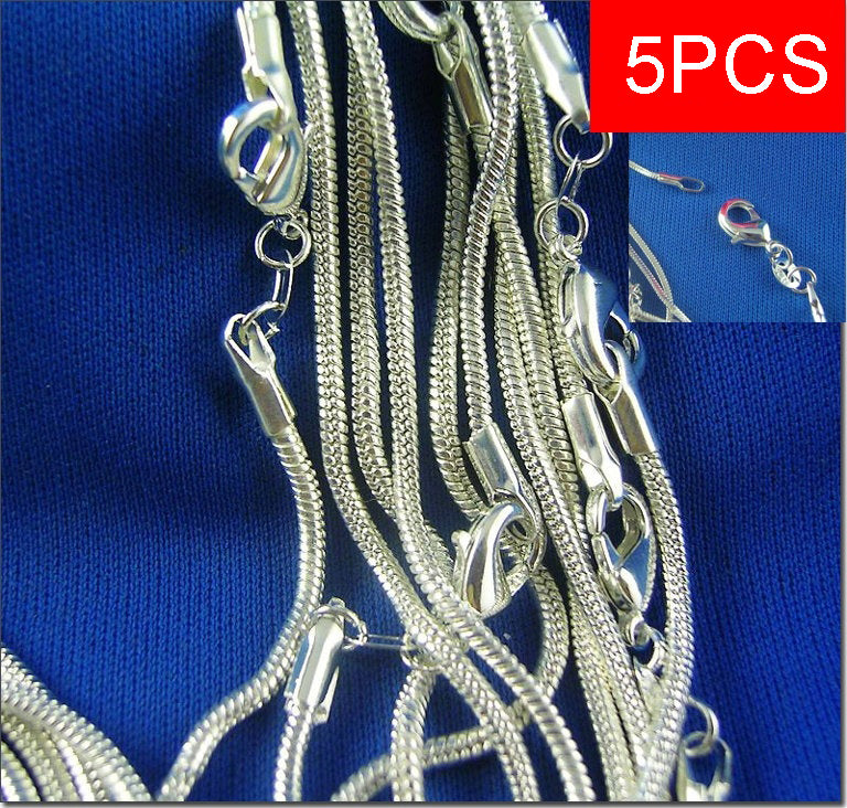 Lot 925 Silver 1//5pcs Chain Necklace for Men//Women Hot Fashion Jewelry 16-30inch