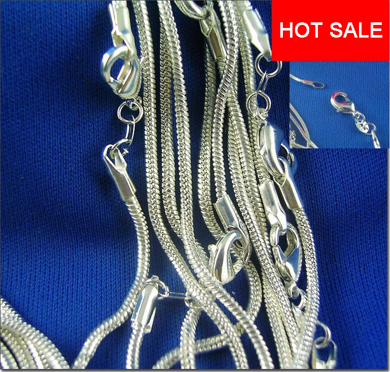 """Wholesale Lots Women 925 Sterling Solid Silver 1mm Snake Chain Necklaces 16/""""-30/"""""""
