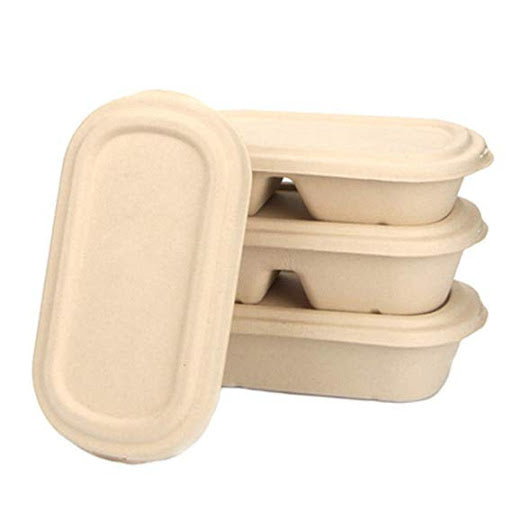Sugarcane Food Container - Oval Bowl (1 compartment)