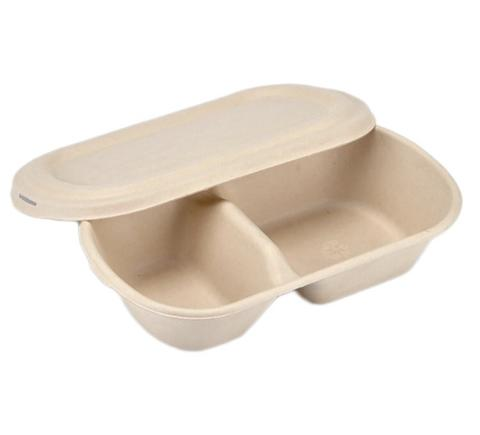 Sugarcane Bowl Oval Flatlid (2 compartment)