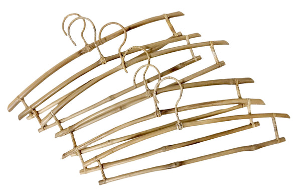 Bamboo hangers Set of 6