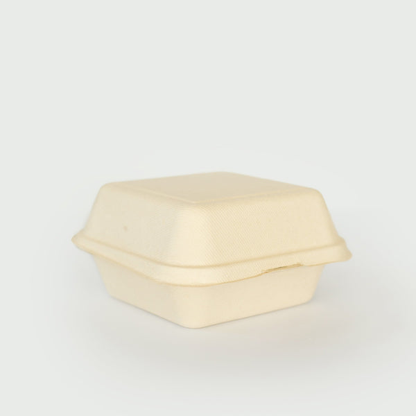 450mL Clamshell - Sugarcane Bagasse Food Container