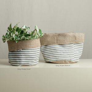 Patterned Reversible Fabric Planter