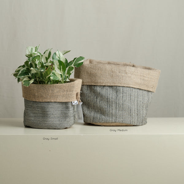 Plain Reversible Fabric Planter