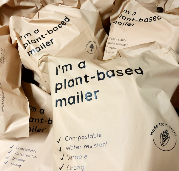 Large Compostable Plant-based Mailer (Kiwi)