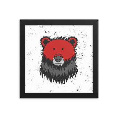 red-bear-framed-print
