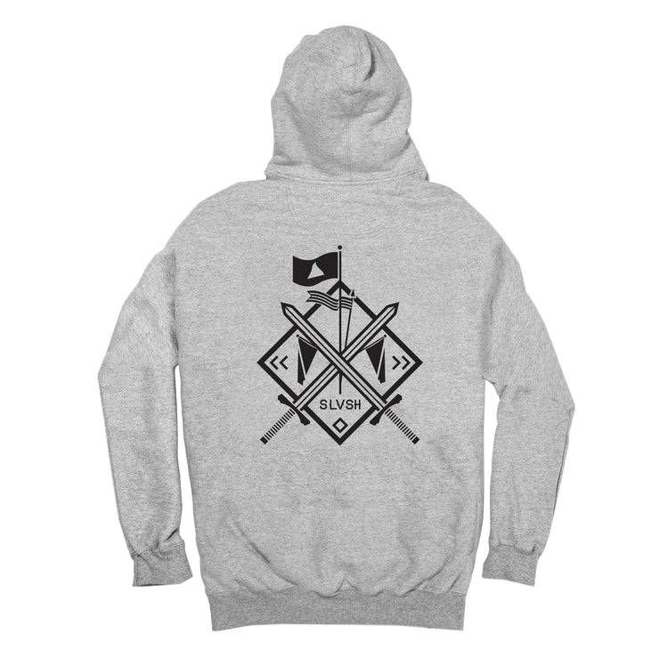 SLVSH x Champion Sword Hoodie | Heather Gray