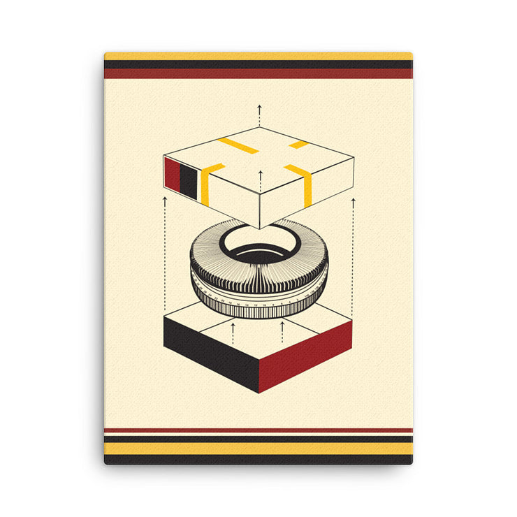 Slide Projector Tray Giclée Canvas