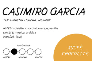 Rabbit Hole Coffee Roasters Casimiro Garcia Mexico Label