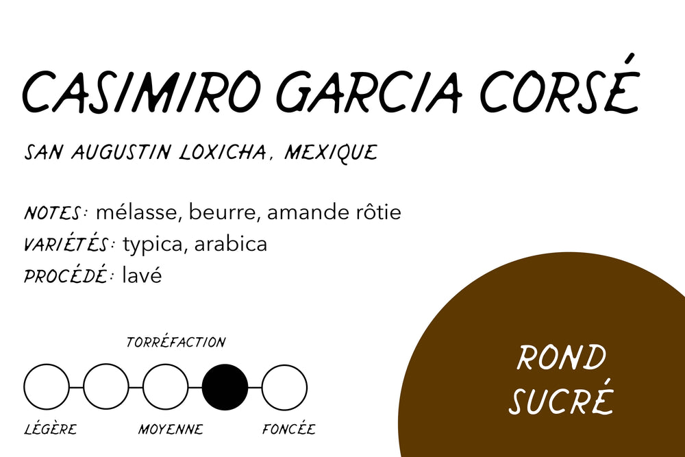 Load image into Gallery viewer, Rabbit Hole Coffee Roasters Casimiro Garcia Dark Roast Label