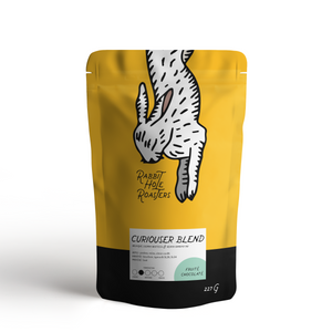 Rabbit Hole Coffee Roasters Curiouser Blend bag