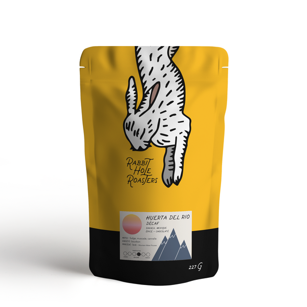 Rabbit Hole Coffee Roasters Huerta Del Rio Decaf Bag