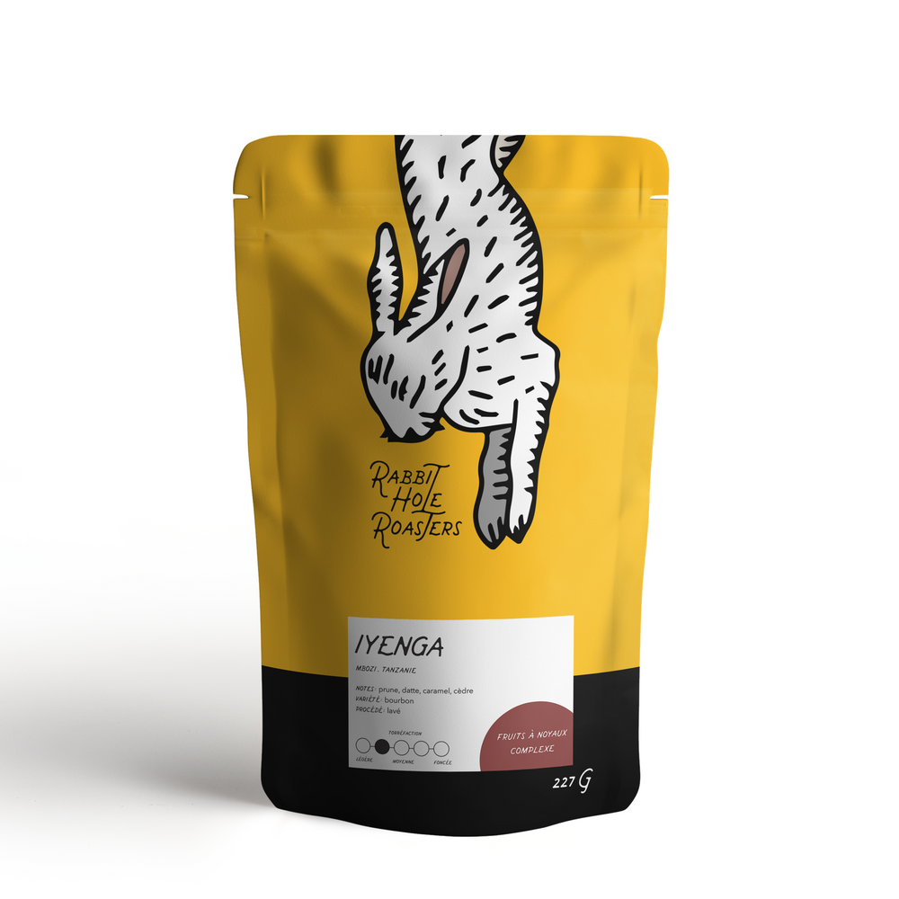rabbit hole coffee roasters iyenga tanzania bag