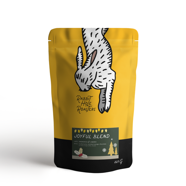 Rabbit hole coffee roasters joyful blend bag