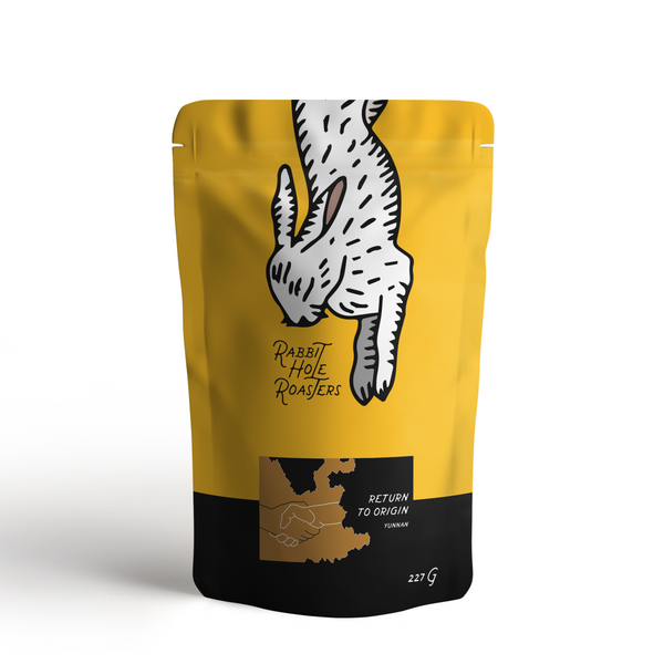 rabbit hole roasters return to origin bag