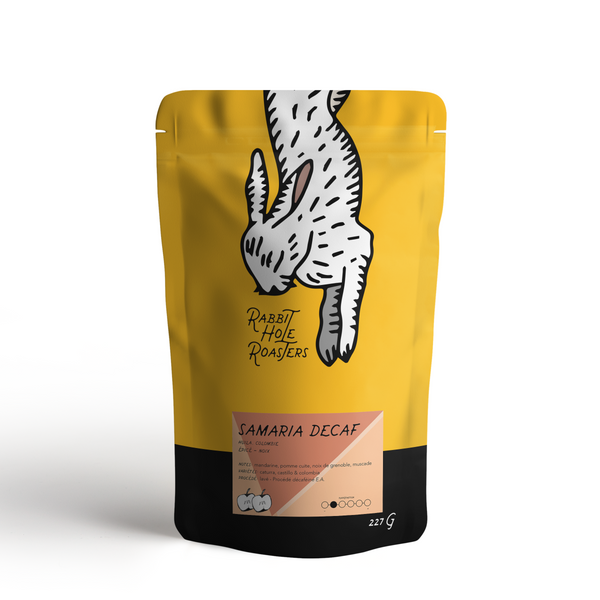 Rabbit Hole Coffee Roasters Samaria Decaf Bag