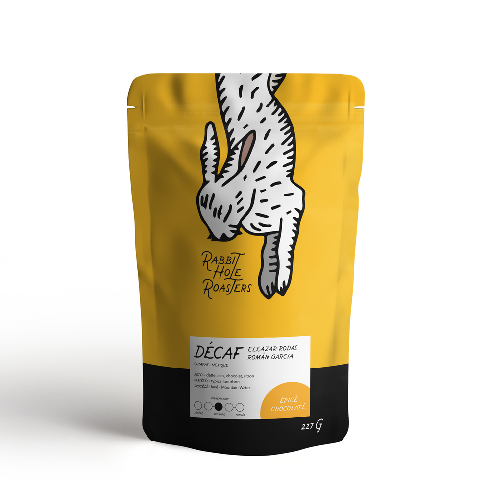 Rabbit Hole Coffee Roasters Decaf Bag