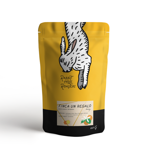 Rabbit Hole Coffee Roasters un regalo honey bag front