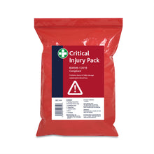 Load image into Gallery viewer, Critical Injury Pack in Red Poly Bag BS8599-1:2019