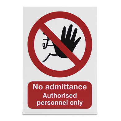 No admittance. Authorised personnel only