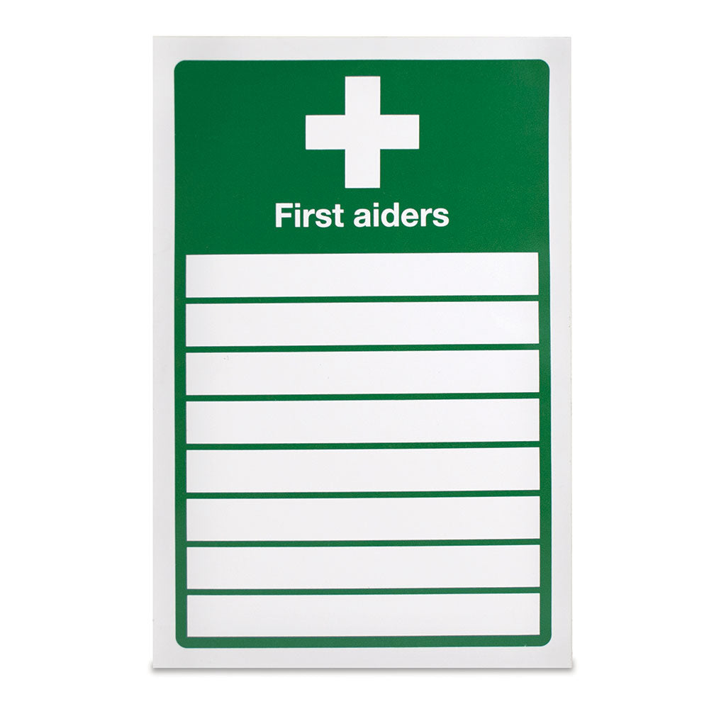 List of first aiders