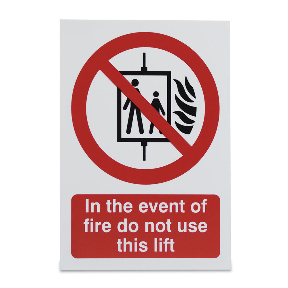 Event Fire Do Not Use Lift Sign