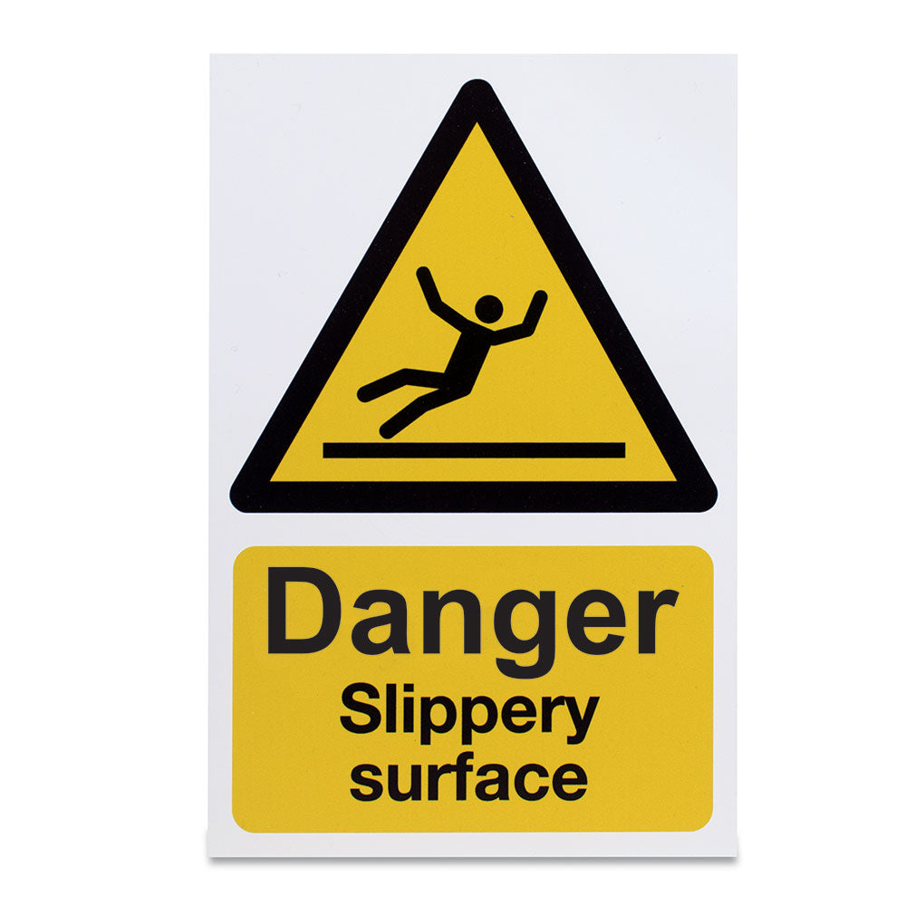 Danger Slippery Surface Sign