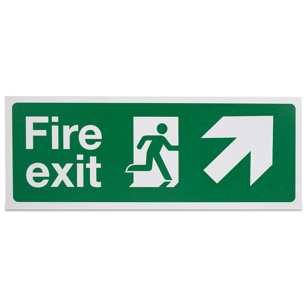 Fire Exit Sign (Arrow Up Right)