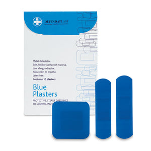 Dependaplast Blue Plasters - Assorted Wallet of 10