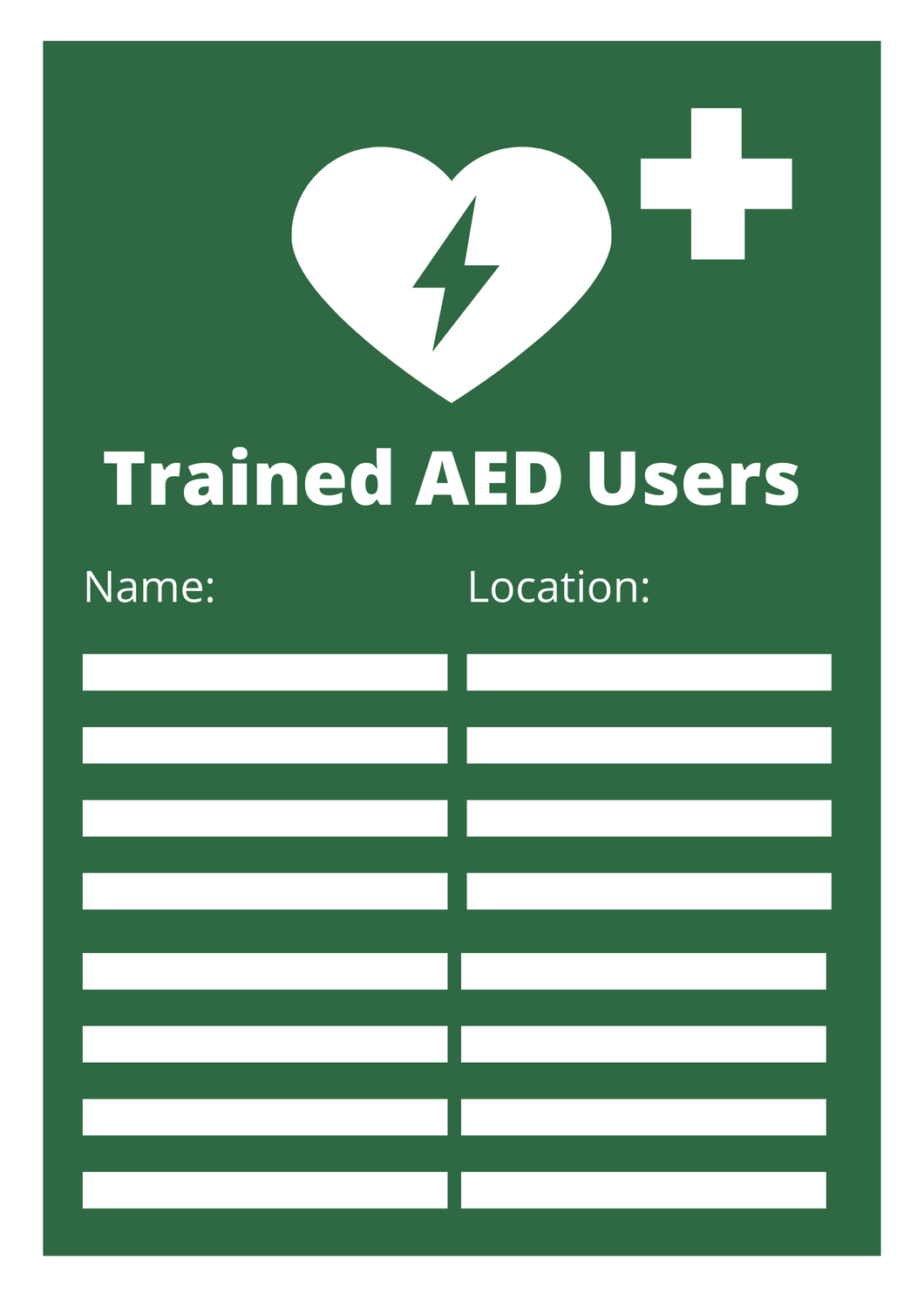 AED Users Poster Free Download