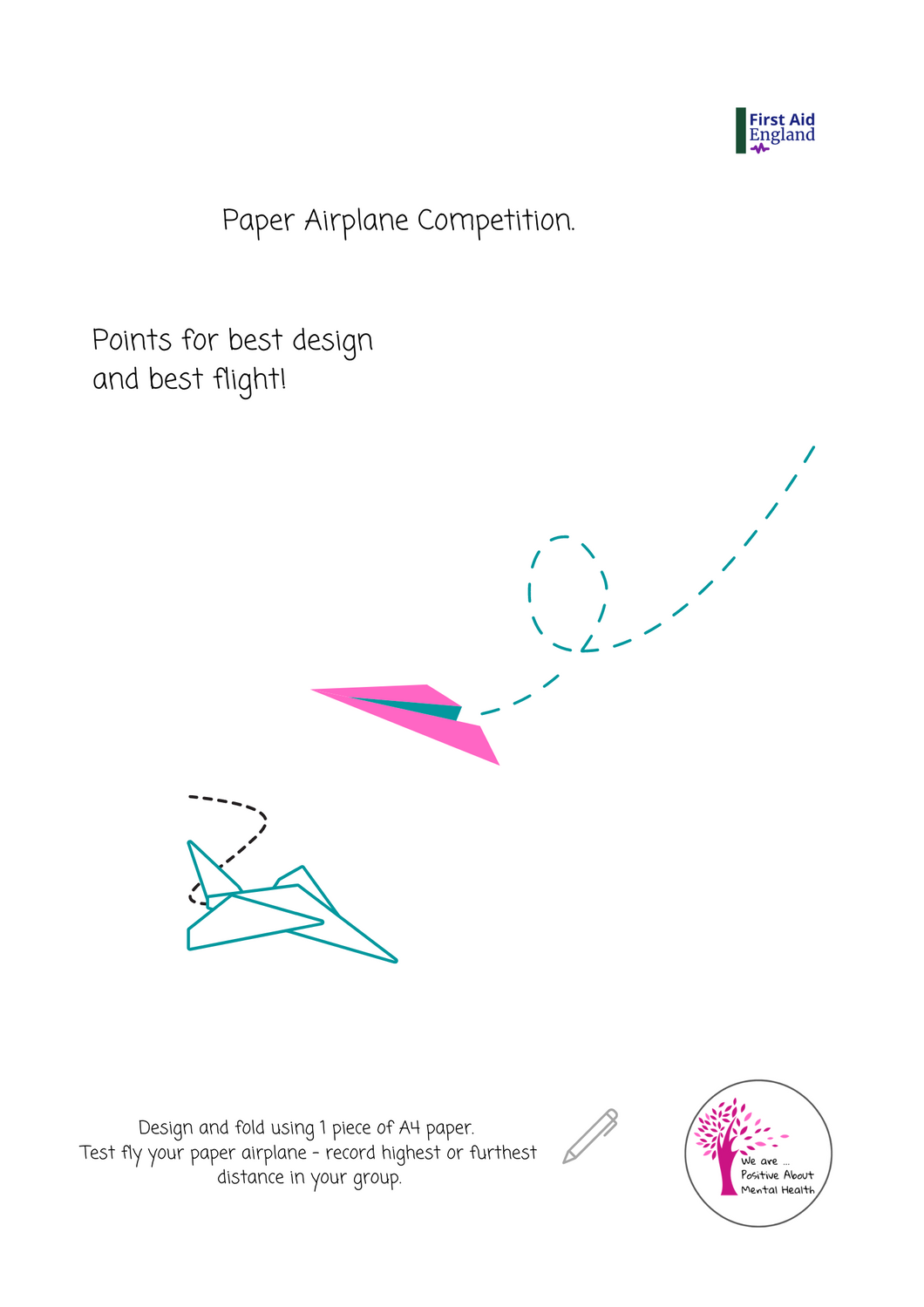 Mental Health Paper Airplane Competition E-Download