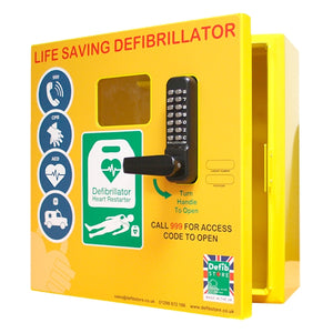Outdoor Defibrillator Cabinet with Keypad Lock, Heating System and LED Light