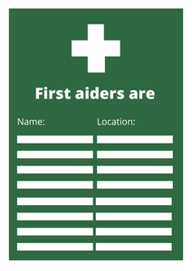 First Aiders Poster Free Download