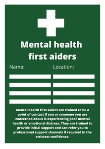 Mental Health First Aid Name Location Poster Free Download