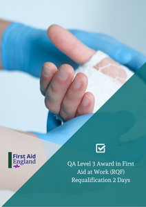 QA Level 3 Award in First Aid at Work Re-qualification (2 Days) (RQF) *Blended Learning Available