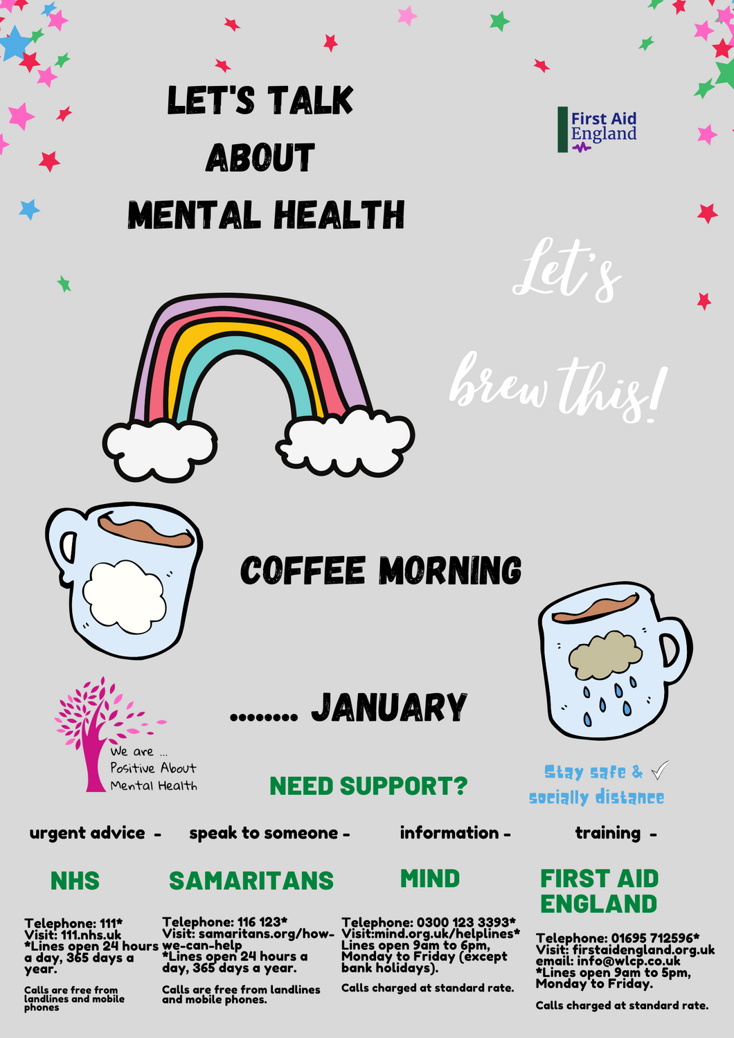 Let's Talk About Mental Health E-Download Poster