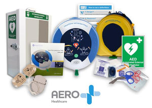 HeartSine samaritan 360P AED Fully Automatic Defibrillator Value Bundle Package