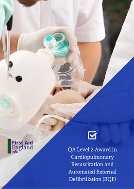 QA Level 2 Award in Cardiopulmonary Resuscitation and Automated External Defibrillation (RQF)