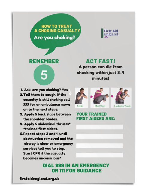 First Aid Choking Casualty Poster - Free E Download