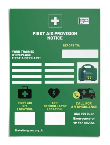 First Aid Provision Poster - Free E Download