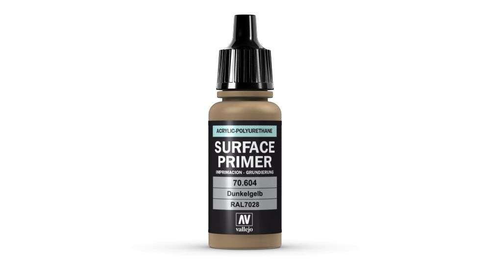 Vallejo Surface Primer - 604 German Dark Yellow 17ml