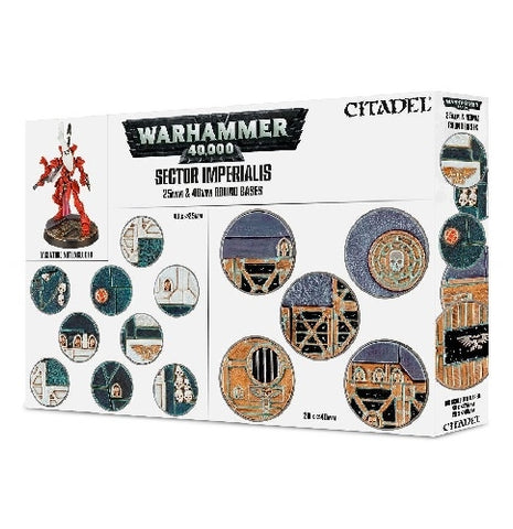 Warhammer 40000 - Sector Imperialis 25mm and 40mm Round Bases
