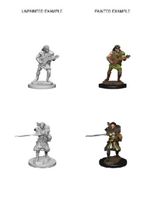 D&D - Unpainted Miniatures Human Bard Male