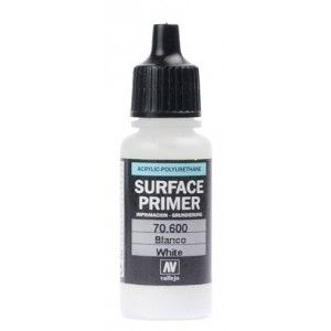 Vallejo Surface Primer - 600 White 17ml