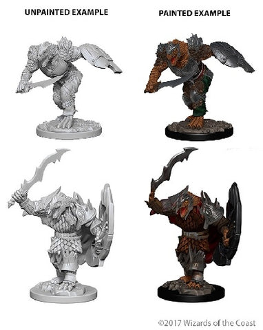 D&D - Unpainted Miniatures Dragonborn Fighter Male