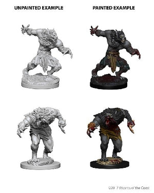 D&D - Unpainted Miniatures Werewolves