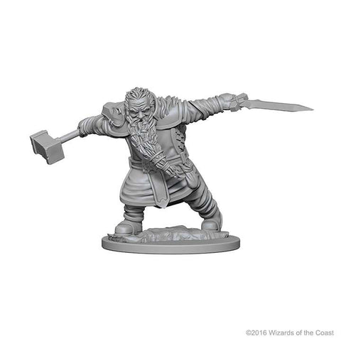 D&D Miniatures Dwarf Fighter Male